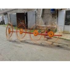 Грабли-ворошилки Кормилец колесно-пальцевые 4 колец 2,5м
