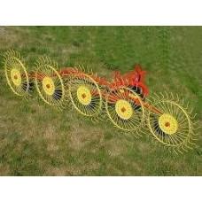Грабли-ворошилки Кормилец колесно-пальцевые 5 колец 3,3м
